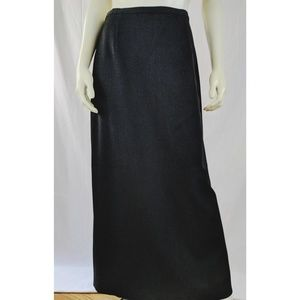 Talbot's Skirt 6 Poly Viscose Unlined Long BackZip